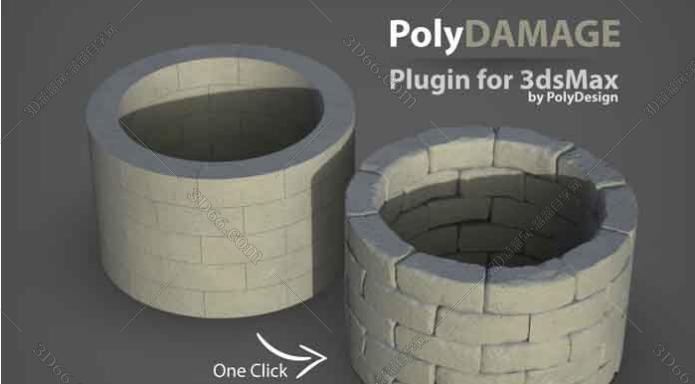 3DMax Polydamage V1 – 添加模型损坏细节插件