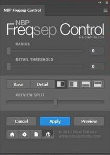 PS磨皮美化插件:NBP Freqsep Control 2.0.000 Win/Mac+使用教程