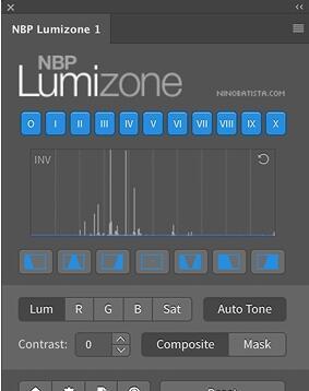 PS亮度蒙版调色插件–NBP Lumizone v1.1.001+使用教程