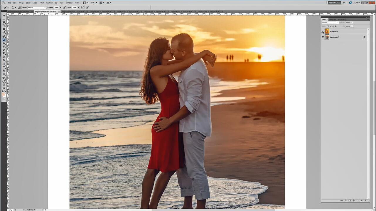 Photoshop情人节 / 贺卡PS动作让照片像一张专业水彩画效果