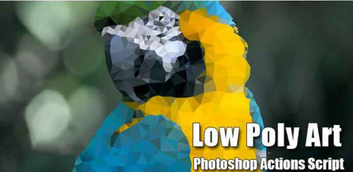 Photoshop低多边形GIF动画脚本GraphicRiver Low Poly Art Add