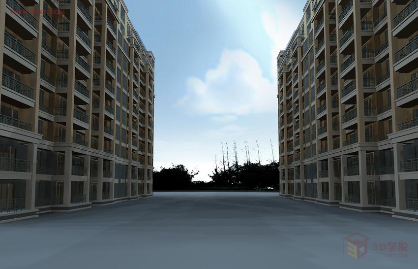 【建模技巧】室外建筑单体渲染