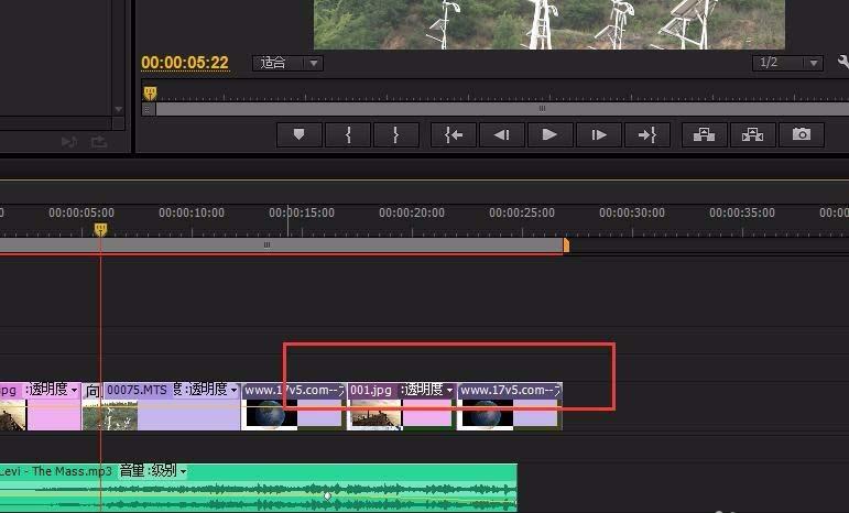 如何将premiere视频编辑v1轨道拷贝到v2轨道?