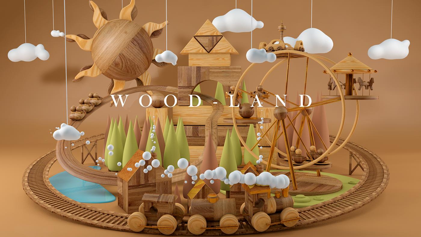 C4D-积木世界建模及渲染