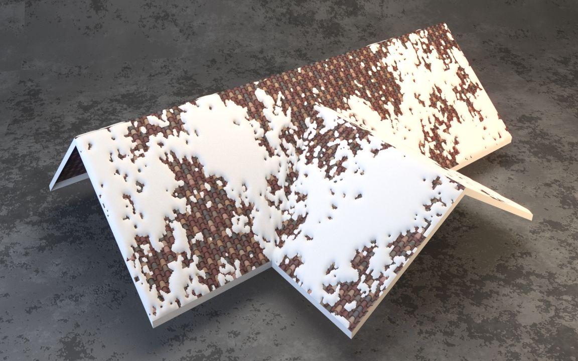 3dmax-如何制作屋顶积雪