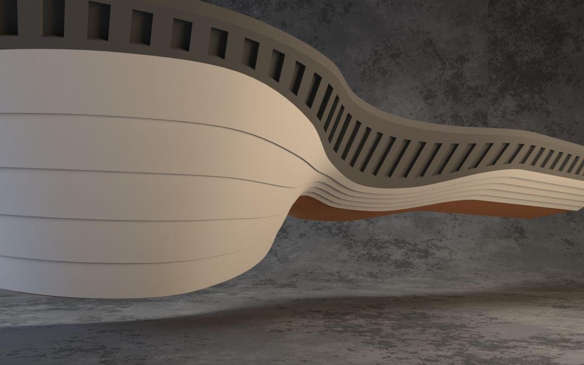 3dmax-如何制作流线异形建筑群房结构
