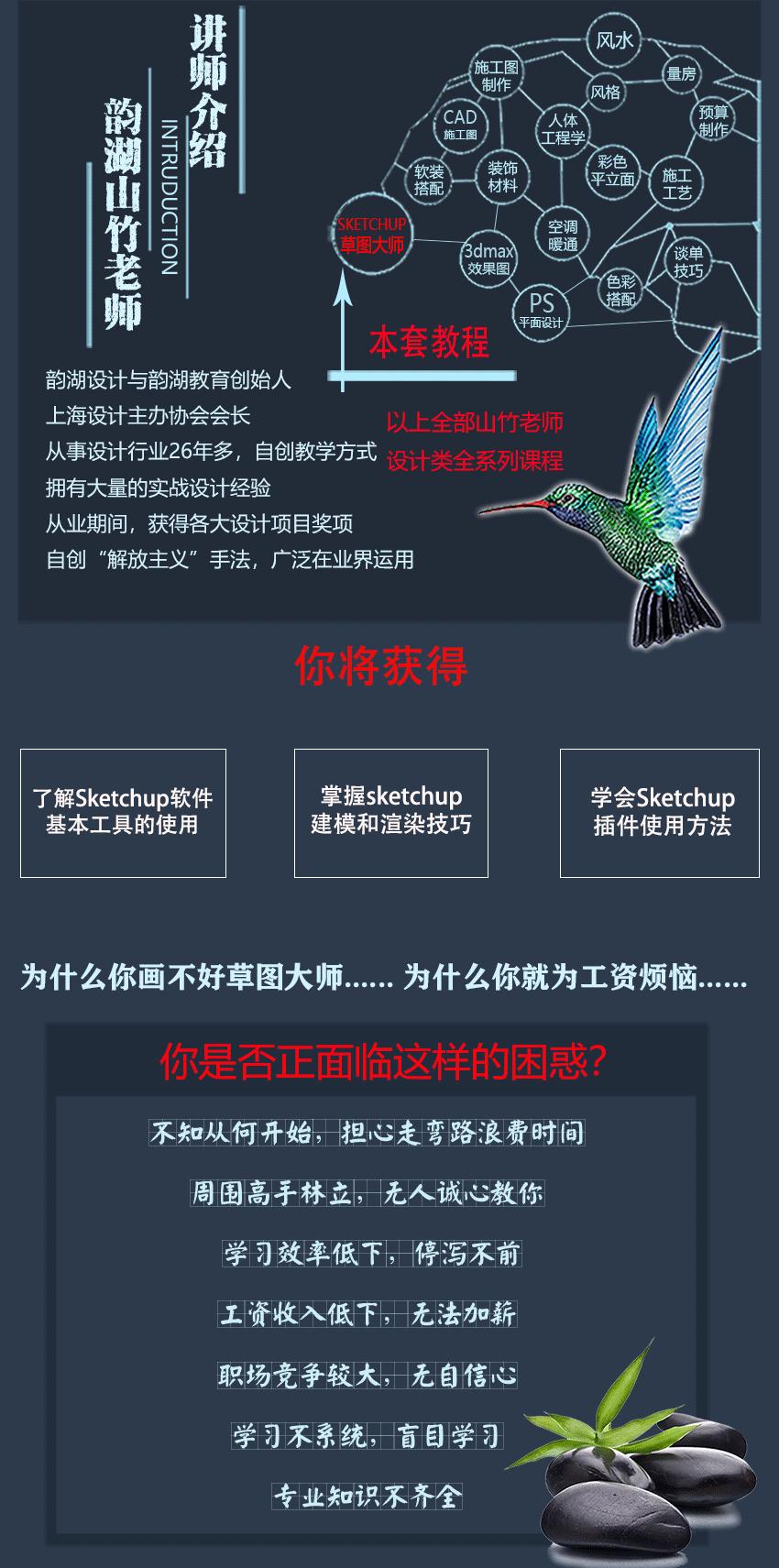 草图大师Sketchup2021景观建筑室内入门教程