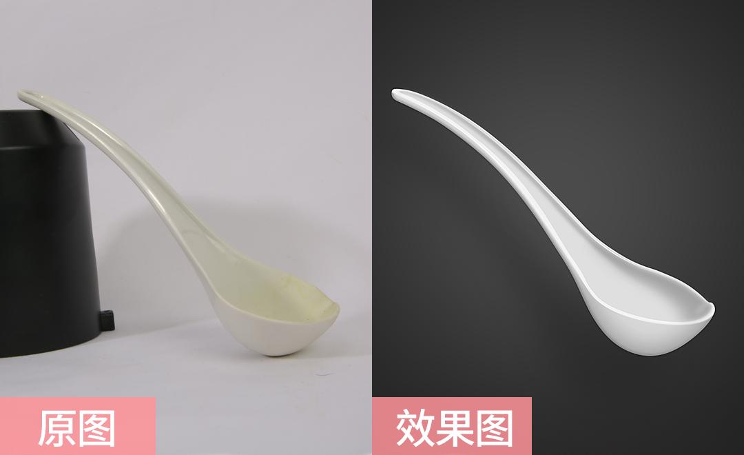 PS-白色塑料饭勺精修