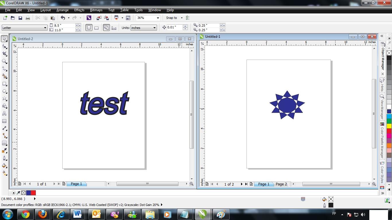 如何在CorelDRAW Graphics X6中同时预览2页或2个文件