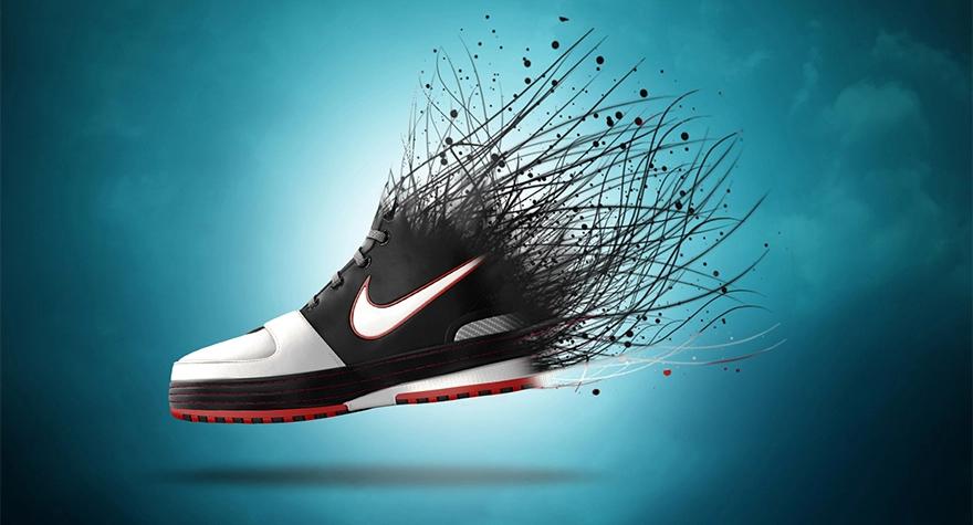 PS-创意运动鞋海报制作