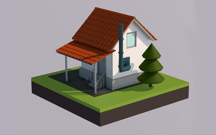 C4D+AE-房屋动画属性调节