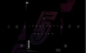 AI-线描字《5》字体设计