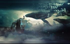 PS-鲸吻海报合成设计教程