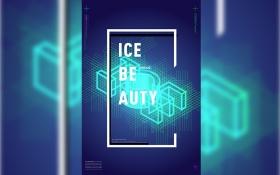 AI-科技感线条字《ICE>字体设计