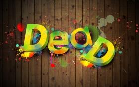 PS-立体字《DEAD》英文字体设计