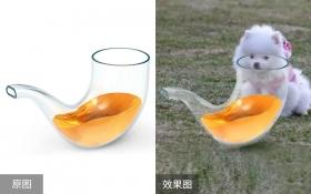 PS-半透明玻璃产品抠图