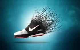 ps创意运动鞋海报合成