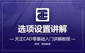 天正CAD之选项设置讲解