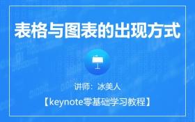 keynote表格与图表的出现方式