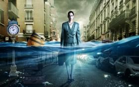 PS-《被淹没的城市》创意海报合成