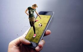PS-《手机足球》创意海报合成