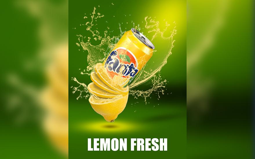 PS-《橙汁饮料》创意海报合成
