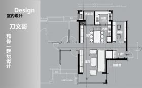 CAD-门厅偏大的处理方式案例教程