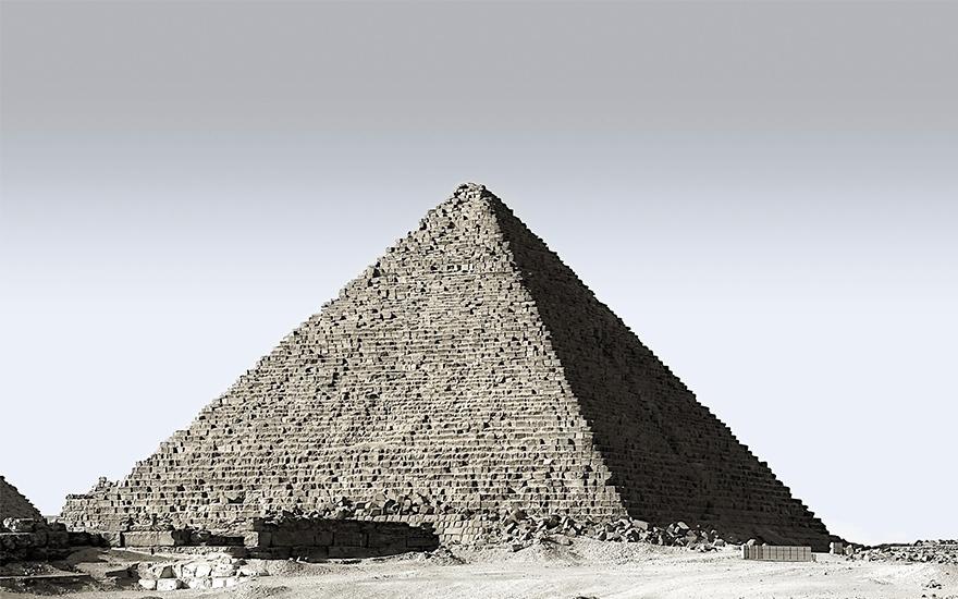 PS-《金字塔》快速选择工具抠图