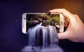 PS-创意合成手机中的美景