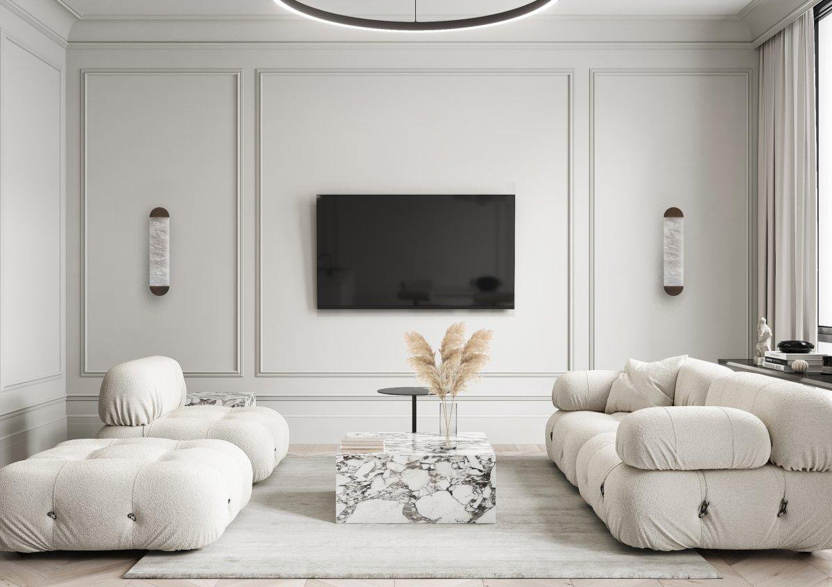 现代经典与莫斯科极简融合,巴黎触觉与现代公寓设计-羽兔网资讯