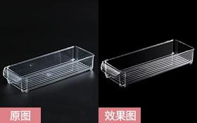 PS 透明冰箱收纳盒精修