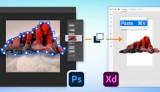 Adobe XD怎么复制粘贴ps资源进来?如何编辑ps图像位图?-羽兔网资讯